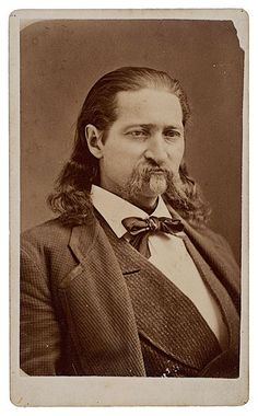 Extremely rare CDV of Will Bill Hickok photographed a year before his death by D.D. Dare in Cheyenne, Wyoming.