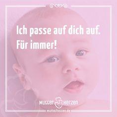 Das Versprechen einer Mutter an ihre Kinder.  Mehr schöne Sprüche auf: www.mutterherzen.de  #fürsorge #liebe #mutter #baby #kind #kinder #mutterliebe #aufpassen #schutz #schützen