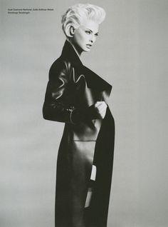 Linda Evangelista for i-D's Role Model Issue, Fall 2012. Photography: Daniele + Iango Concept: Luigi Murenu Styling: Patti Wilson Hair...