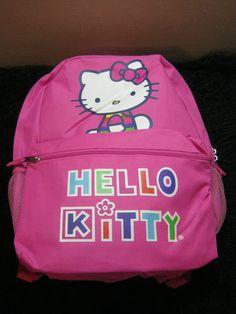 New pink Hello Kitty Sanrio back pack book bag school supplies | eBay