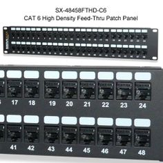 Signamax High Density Feed-Thru Patch Panels- Professional grade #PatchPanels for limited #RackSpace applications. Available for #Cat5e or #Cat6, 24 or 48 ports, both shielded and unshielded. Learn more at CableOrganizer.com:
