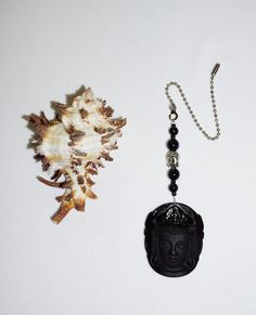 One of a Kind,  Black Buddha,  Ceiling Fan Pull,  Obsidian Fan Pull,  Meditation Gifts, Buddha Home Decor,  Buddha Gifts,  Ready To Ship by EarthDreamsbySunLi on Etsy