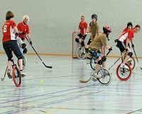 Strange Sports: Unicycle Polo1 There are weird sports and then there are strange and unusual sports. Unicycle Polo is all of them.  Unicycle Polo players use unicycles instead of horses such as those used in polo rules and regulations.