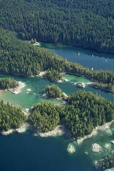 Desolation Sound, BC,Canada.  I have sailed here and it is breathtaking.