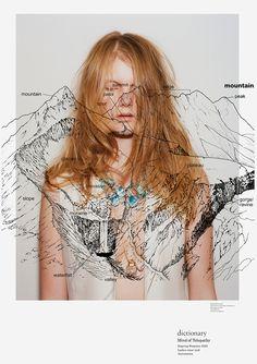 Mode et design par Rikako Nagashima Web Design, Layout Design, Design Art, Print Design, Dm Poster, Poster Layout, Graphic Design Typography, Graphic Design Illustration, Illustration Fashion