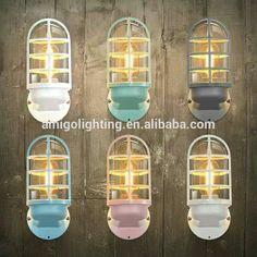 designer decorative wall lamp modern W12 pink/blue/green/white/grey
