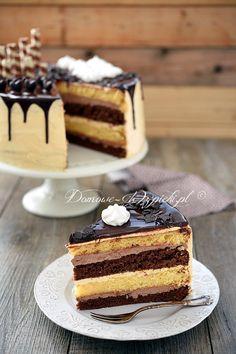 Klasyczny tort z masą maślaną Food Cakes, Cupcake Cakes, Polish Recipes, Polish Food, Different Cakes, German Chocolate, Catering, Cake Recipes, Sweet Tooth