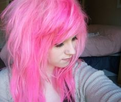 Hot Pink Hair. wehearit. also on clipix.