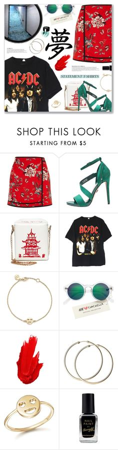 """""""Highway to Hell, AC/DC"""" by blendasantos ❤ liked on Polyvore featuring River Island, Anja, Bing Bang, H&M, Maybelline, Barry M and NYX"""