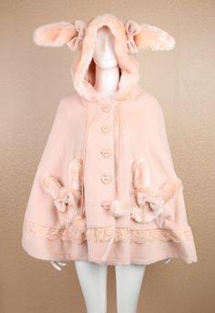 Cosplay kawaii coat with rabbit ears Harajuku Mode, Harajuku Fashion, Kawaii Fashion, Lolita Fashion, Cute Fashion, Asian Fashion, Fashion Outfits, Looks Kawaii, Lolita Mode