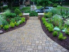 Front yard walkway landscaping ideas sidewalk for landscape garden porch and ay designs .