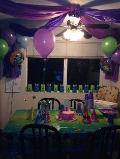 Monsters University/Inc Party decorations