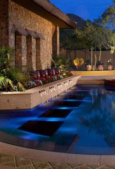 OTT pool design from Kirk Bianchi of Bianchi Design, an award winning phoenix pool builder and landscape designer.