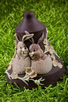 #Campana in #cioccolato per #Pasqua. Stampo per realizzarlo su www.decosil.it