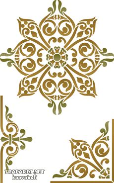 Grekiska Set 23 • Grfekisk ornament - mönsterschablon till målning • handla online på Internet Stencils, Damask Stencil, Stencil Patterns, Stencil Art, Stencil Designs, Embroidery Patterns, Plotter Cutter, Islamic Patterns, Islamic Art