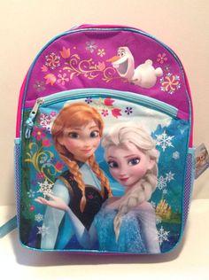 "Disney Frozen Backpack 16"" Elsa Princess Anna School Bag USA Seller SHIPS FAST #Disney"