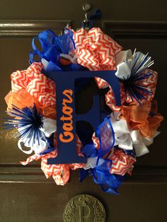 •homemade gators wreath•
