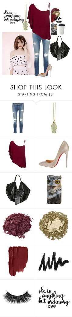 """Ordinary"" by not-your-southern-bell ❤ liked on Polyvore featuring rag & bone/JEAN, Effy Jewelry, Christian Louboutin, Valentino, Stila and Urban Decay"
