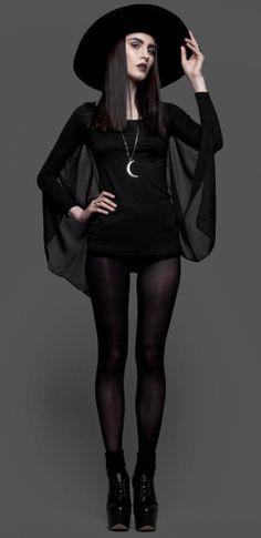 halloween chic fashion addams - Google Search