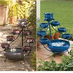 Duo Ceramic Solar Fountain
