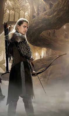 """""""Elves have this superhuman strength, yet they're so graceful. Tolkien created them to be angelic spirits, but I also saw Legolas as something out of the Seven Samurai."""" -Orlando Bloom"""