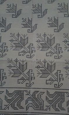 This Pin was discovered by NAL Folk Embroidery, Embroidery Patterns Free, Cross Stitch Embroidery, Cross Stitch Borders, Cross Stitch Designs, Cross Stitch Patterns, Kutch Work, Bargello, Blackwork