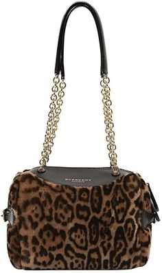 3924d9e7040 Burberry leopard print Shearling Handbag with glam chain shoulder strap #ad  Dier Afdruk Mode,