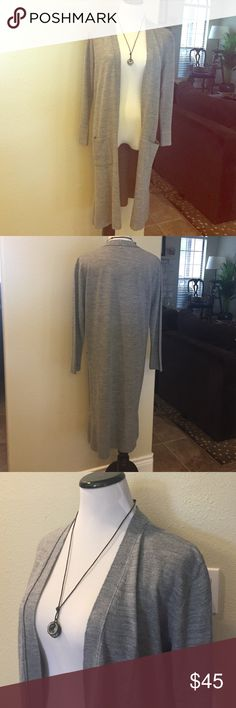Selling this TOPSHOP long grey cardigan on Poshmark! My username is: girlyshirley5. #shopmycloset #poshmark #fashion #shopping #style #forsale #Topshop #Sweaters