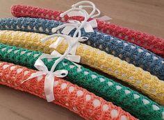 Ravelry: Coat Hanger Cover - free crochet pattern by Periwinkle Crochet Crochet Baby Cardigan Free Pattern, Crochet Coat, Free Crochet, Crochet Patterns, Crochet Dolls, Metal Coat Hangers, Coat Patterns, Vintage Coat, Crochet Projects