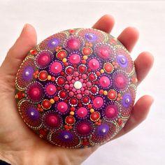 SOLD Reserved for TJ SanG Hand-painted Dot Mandala por HFXrocks