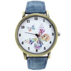 Cheap fabric camouflage, Buy Quality reloj celular directly from China reloj unisex Suppliers:               Colorful Butterfly Dial Casual Dress Watch New 2015 Women Fashion Quartz Watch Denim Fabric Wristwatc
