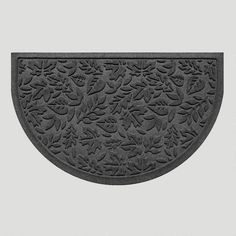 One of my favorite discoveries at WorldMarket.com: Fall Leaves WaterGuard Half-Round Doormat, Charcoal