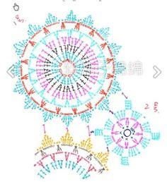 Stylowa kolekcja inspiracji z kategorii Design Crochet Doily Patterns, Crochet Chart, Crochet Squares, Crochet Granny, Crochet Motif, Crochet Doilies, Crochet Flowers, Crochet Stitches, Crochet Tablecloth