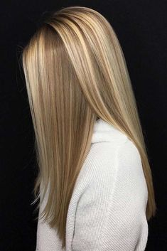 straight blonde balayage hair looks Ombre Hair Color, Hair Color Balayage, Cool Hair Color, Blonde Balayage, Hair Highlights, Hot Hair Colors, Ash Blonde, Long Face Hairstyles, Simple Hairstyles