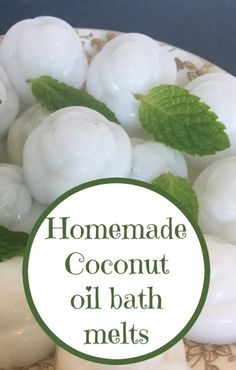 Homemade coconut oil bath melts….