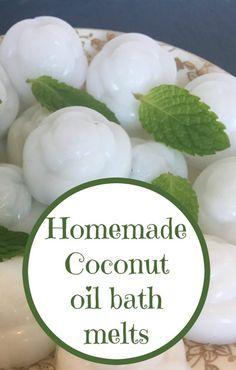 Homemade coconut oil bath melts….