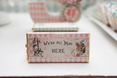 Alice In Wonderland Themed Party Personalized Chocolate Bars