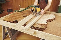 How to Work With Natural-Edge Slabs | WOOD Magazine