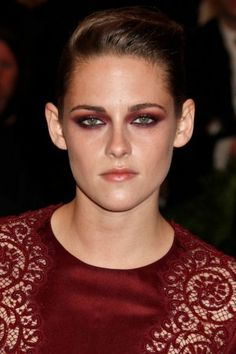 Kristen Stewart had this one in the bag: She's played musical icon Joan Jett, plus her lack of interest in the whole red-carpet circus gives her the pre-requisite blasé attitude required to successfully pull off punk. We're digging the wash of red shadow (look how amazing it makes her eyes look) and that swoopy pompadour.