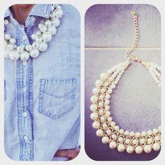 Collier en fausses perles de culture Ôde to Joy en vente sur le concept store www.o-some.com Idéal pour porter avec un simple outfit denim