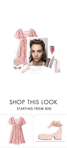 """""""Les Gouttes De Rosée Le Matin / The Morning Dew Drops"""" by halfmoonrun ❤ liked on Polyvore featuring beauty, Viktor & Rolf and springlips"""