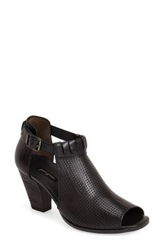 $215  Free shipping and returns on Paul Green 'Colleen' Perforated Leather Sandal (Women) at Nordstrom.com. A perforated cuff and bold cutouts intensify the modern glamour of a stacked-heel sandal cast in smooth, burnished leather.