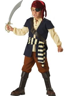 Deluxe Pirate Mate Boys Costume, $34.99 - The Costume Land