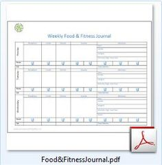 Weekly Food & Fitness Journal - Free Printable, easy to use/track