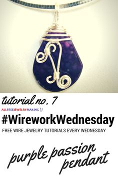 One of our favorite wire pendant tutorials from @divaonline. #WireworkWednesday
