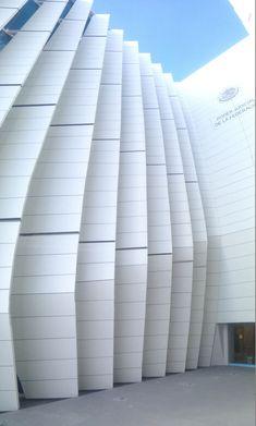 Detalle de la fachada principal de la Judicatura en Durango México. Paneles fenólicos Fundermax HPL Fachada ventilada