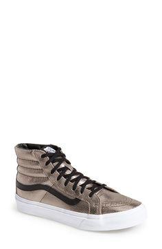 Women's Vans 'Sk8-Hi Slim' Metallic Leather Sneaker