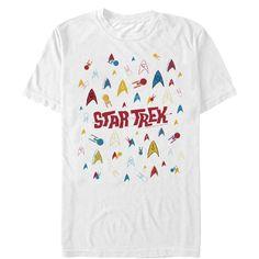 809718779b6 Star Trek Mens - Starfleet Cartoon Collage T Shirt Star Trek Shirt
