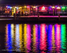 Rainbow of colors reflected in Ego Alley in by BobPetersonPhoto