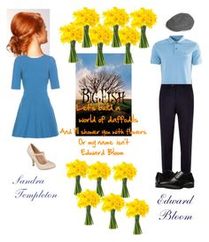 """""""Sandra and Edward Bloom-Big Fish"""" by silverbellatrix ❤ liked on Polyvore featuring Dolce&Gabbana, Journee Collection, Burberry, BOSS Hugo Boss and Stacy Adams"""